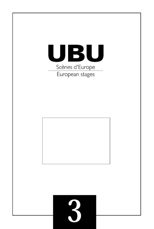 Couverture UBU numéro 3