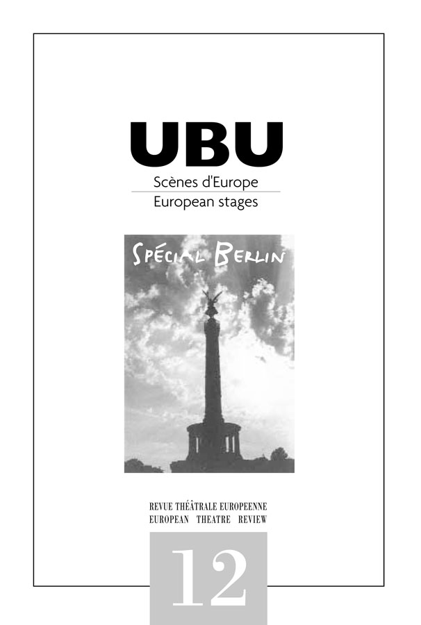 Couverture UBU numéro 12