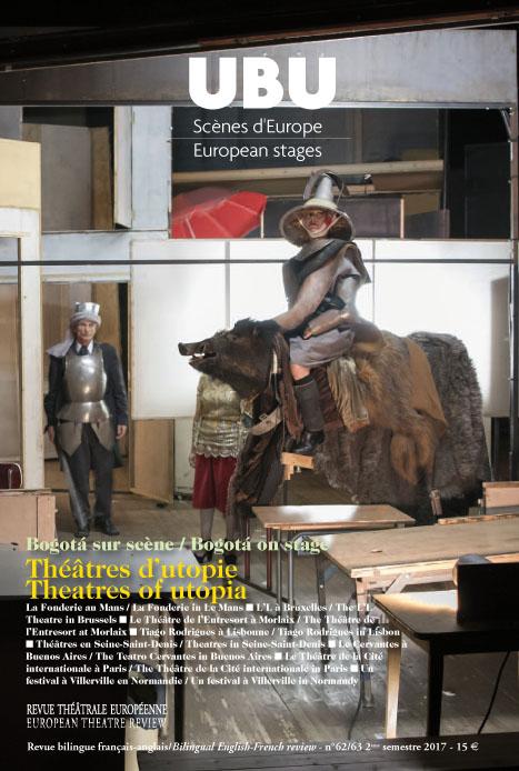 Couverture numéro 62/63 Théâtres d'utopie
