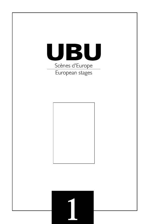 Couverture UBU numéro 1